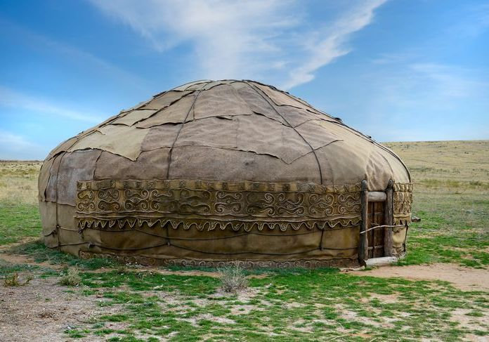 Traditional asian yurt