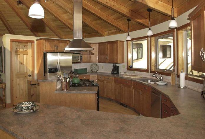 Kitchen in round house