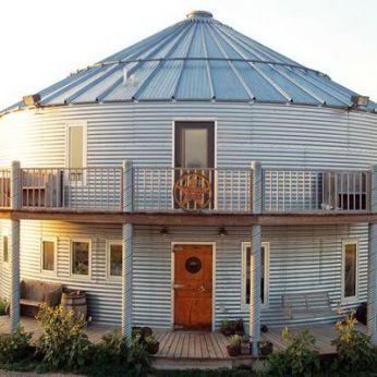 Metal Farm Silo House